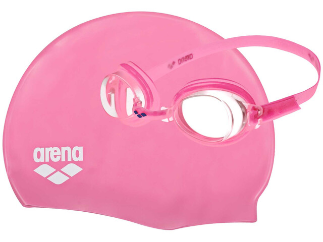 arena Pool Set Bambino, fuchsia-clear-fuchsia-white